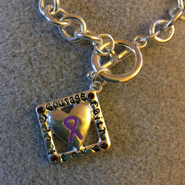 Courage, Faith, Love and Hope Charm Bracelet