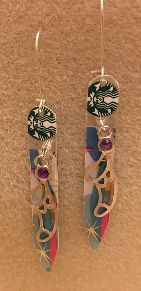 Christmas Stocking Starbucks Earrings