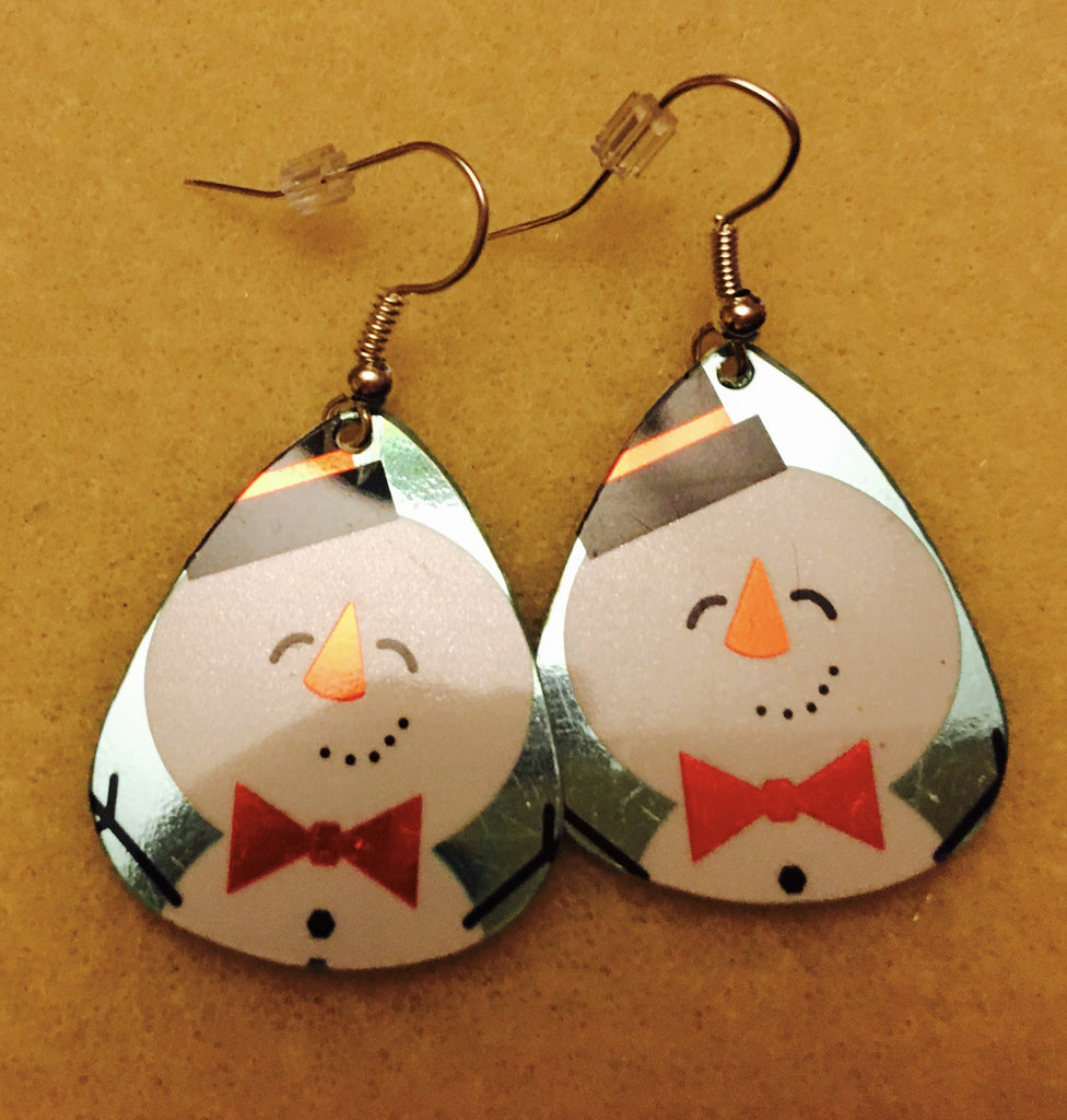 Snowman Gift Card Earrings