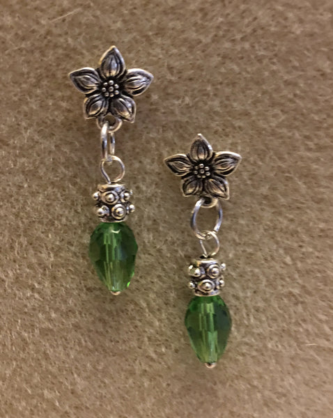 Poinsettia Earrings - Green