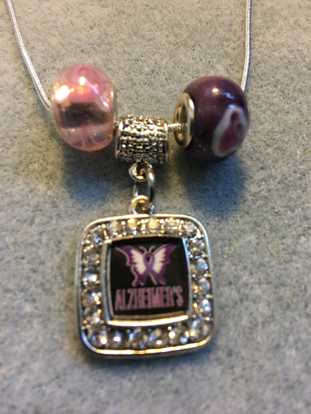 Alzheimers Awareness Necklace