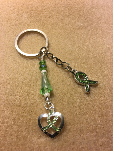 Lime Ribbon Key Chain