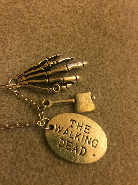 Walking Dead Necklace with 3 Charms