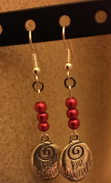 Be Yourself Red Earrings