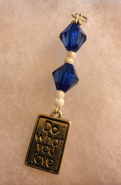 Do What You Love Pendant - Blue