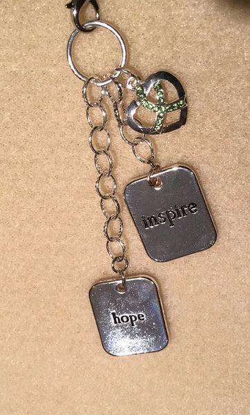 Inspire Hope Lime Ribbon Necklace