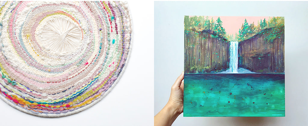 Coral cove weaving and abiqua falls painting