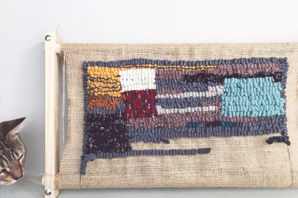 Cathy McMurray hooked rug