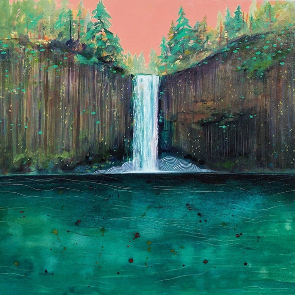 abiqua waterfall oregon painting Cathy McMurray