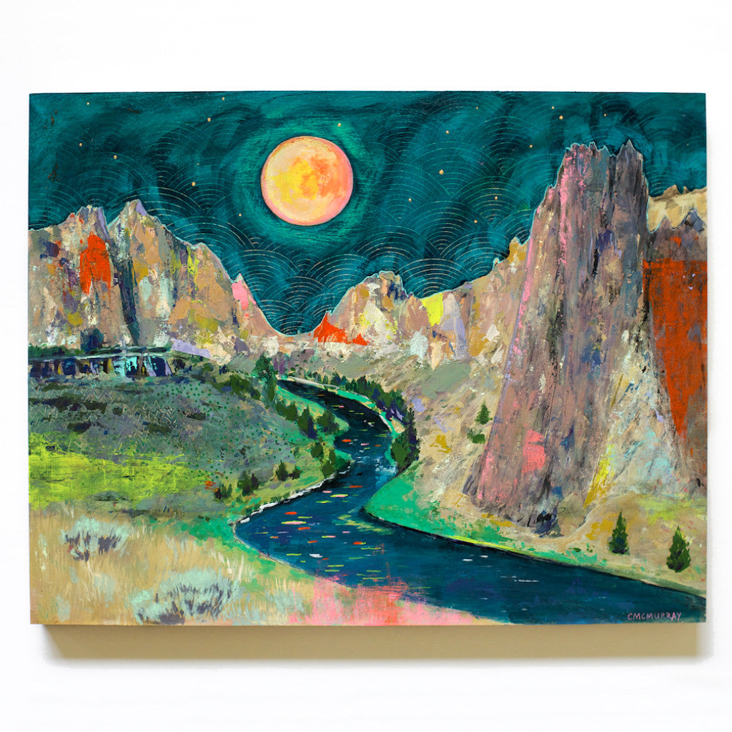 smith rock oregon painting