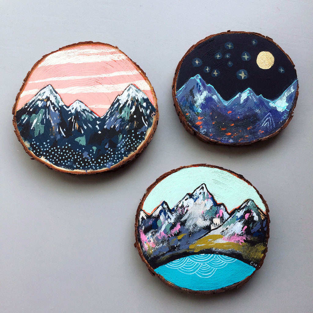 Mini mountain paintings