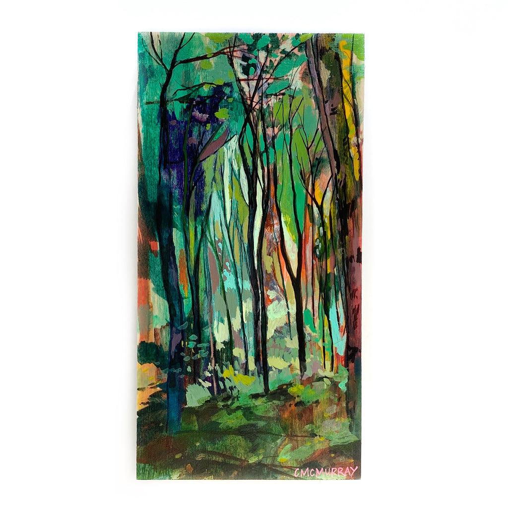 colorful painting of forest portland cathy mcmurray