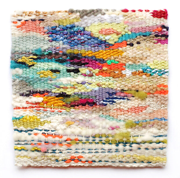 colorful abstract handwoven weaving