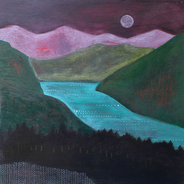 purple mountains gorge painting