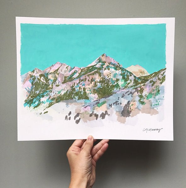 turquoise mountains marker drawing