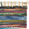 close-up of handwoven wall hanging