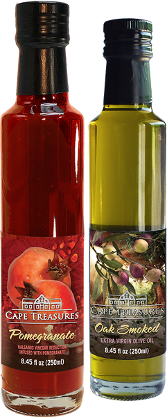 2021 GIFT Pomegranate Reduction & Smoked Olive Oil - Cape Treasures