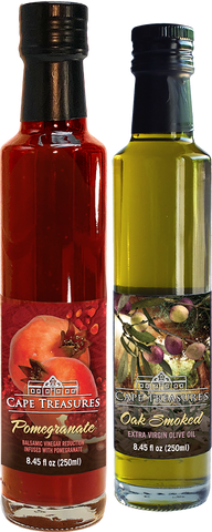 2020 GIFT Pomegranate Reduction & Smoked Olive Oil - Cape Treasures