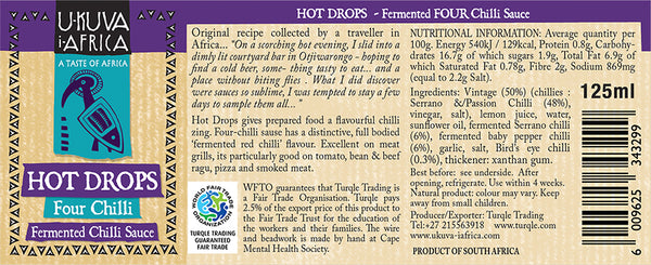 Hot Drops - Fermented Four Chilli Sauce - Ukuva iAfrica