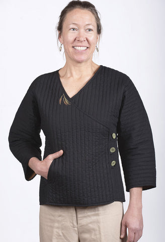 Women's Black Waist Jacket