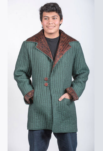 Men's Green and Brown Jacket