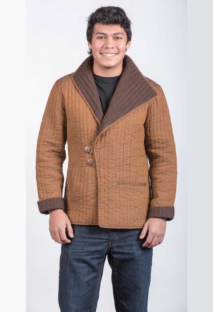Men's Tan and Brown Jacket