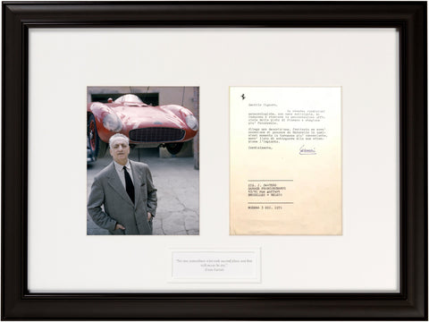 "Signed  Enzo Ferrari 1971 Letter important Ferrari history:  ""No one remembers who took second...."""