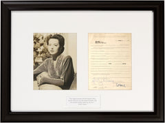 Signed Hedy Lamarr Contract