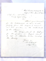 GENERAL ULYSSES S GRANT SIGNED Letter 1862 Civil War Battle Plans