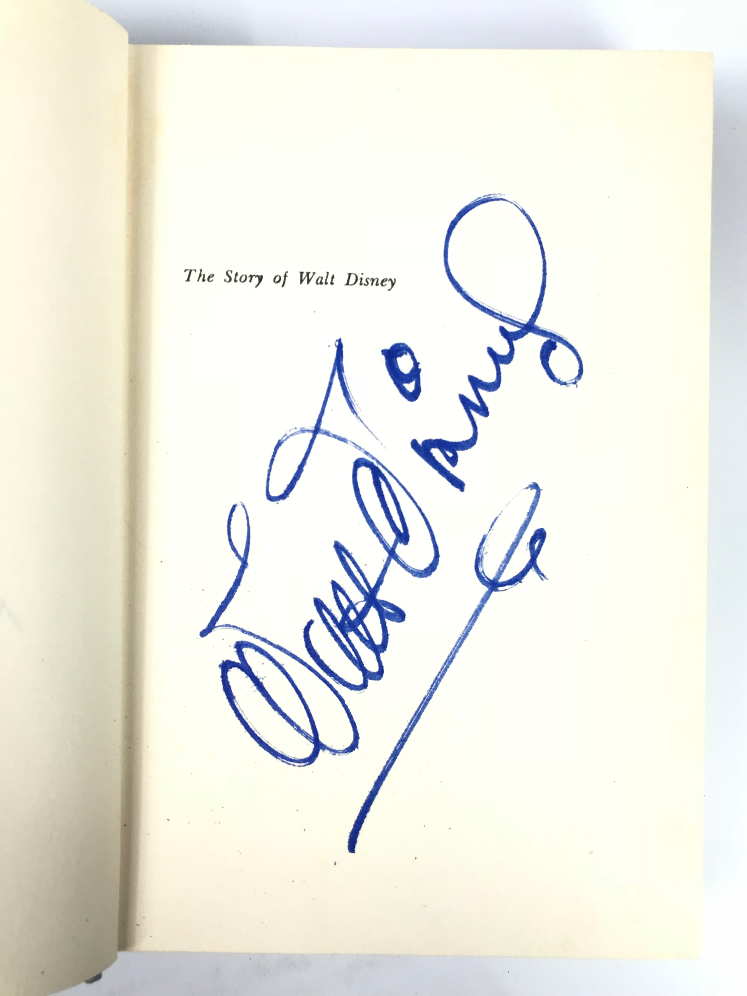Signed Walt Disney Book