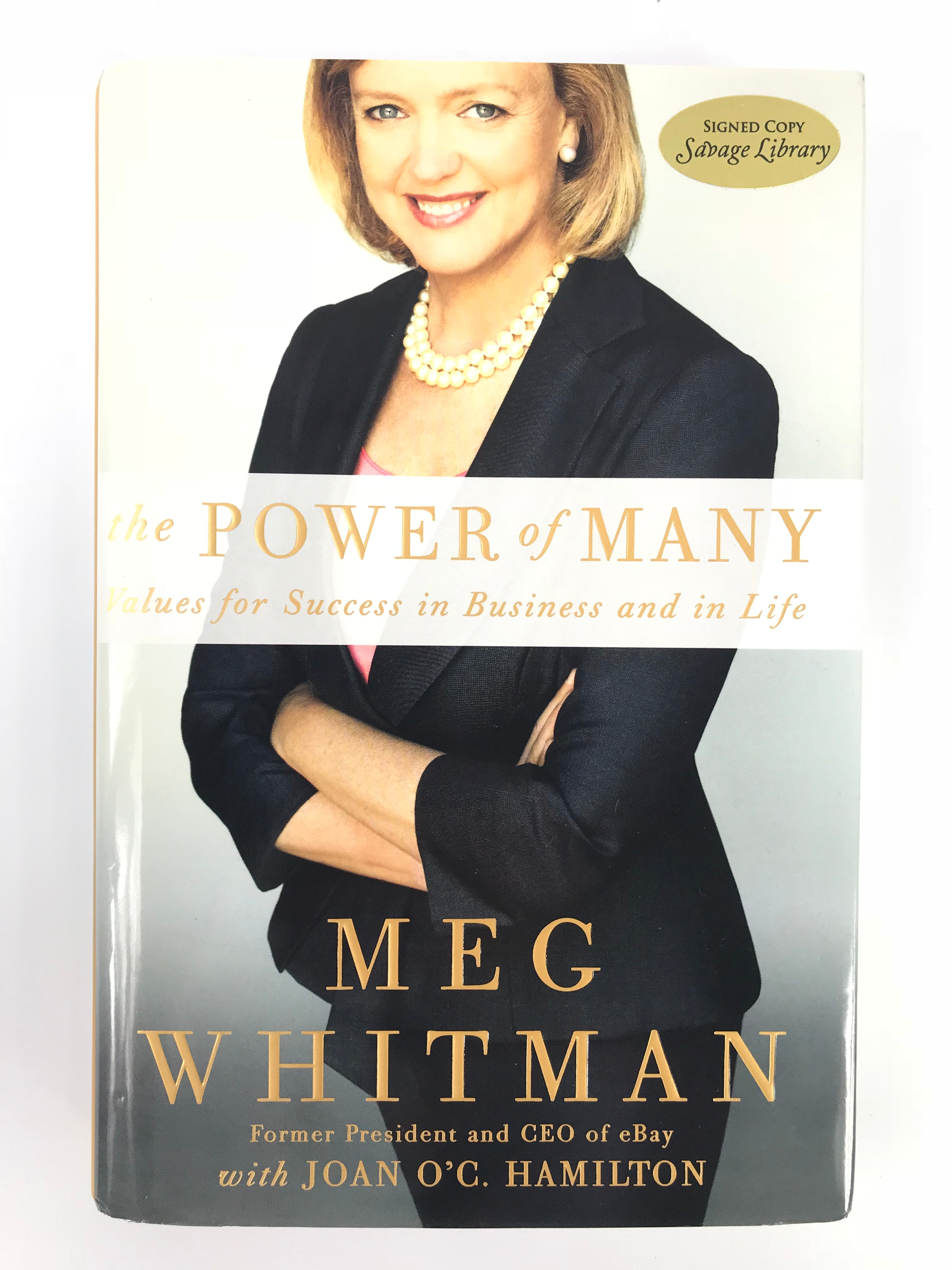 Signed Meg Whitman: 'The Power of Many'