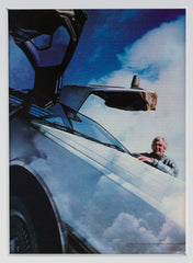 "Signed John DeLorean: ""Live the Dream."""