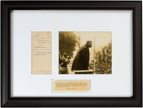 Signed Theodore Roosevelt