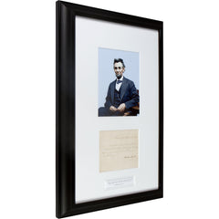 "Signed Abraham Lincoln: ""And in the end it's not the years in your life that count..."""