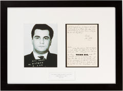 "Signed John Gotti: ""It's better to spend one day as a lion, than one hundred years as a lamb."""