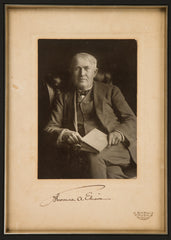 "Signed Thomas Edison: ""Don't Give Up"""