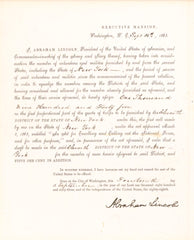 "Signed Abraham Lincoln, Whitehouse Letterhead: ""The best way to predict the future...."""