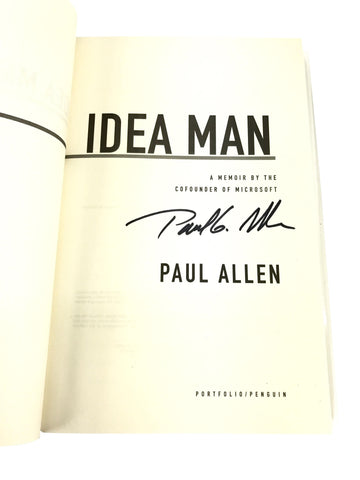 "Signed Paul Allen: ""Idea Man"""