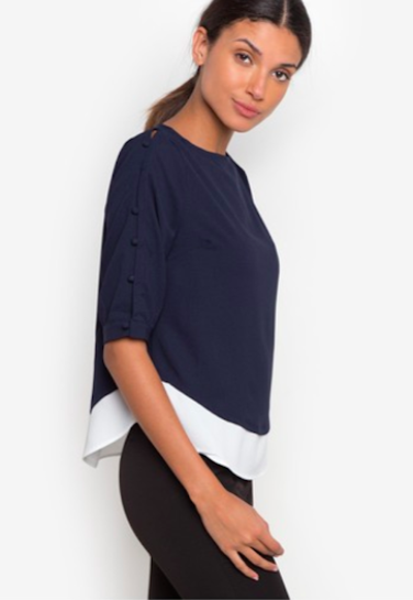Formal Two body button sleeve Blouse