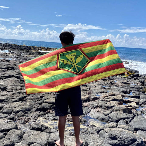 Born Hawaii Accessories BORN HAWAII KANAKA FLAG TOWEL