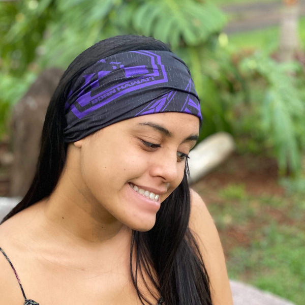 Born Hawaii Accessories KANU FACE HEAD WRAP PURPLE