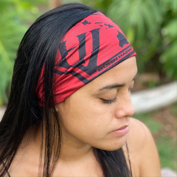 Born Hawaii Accessories KANU FACE HEAD WRAP RED
