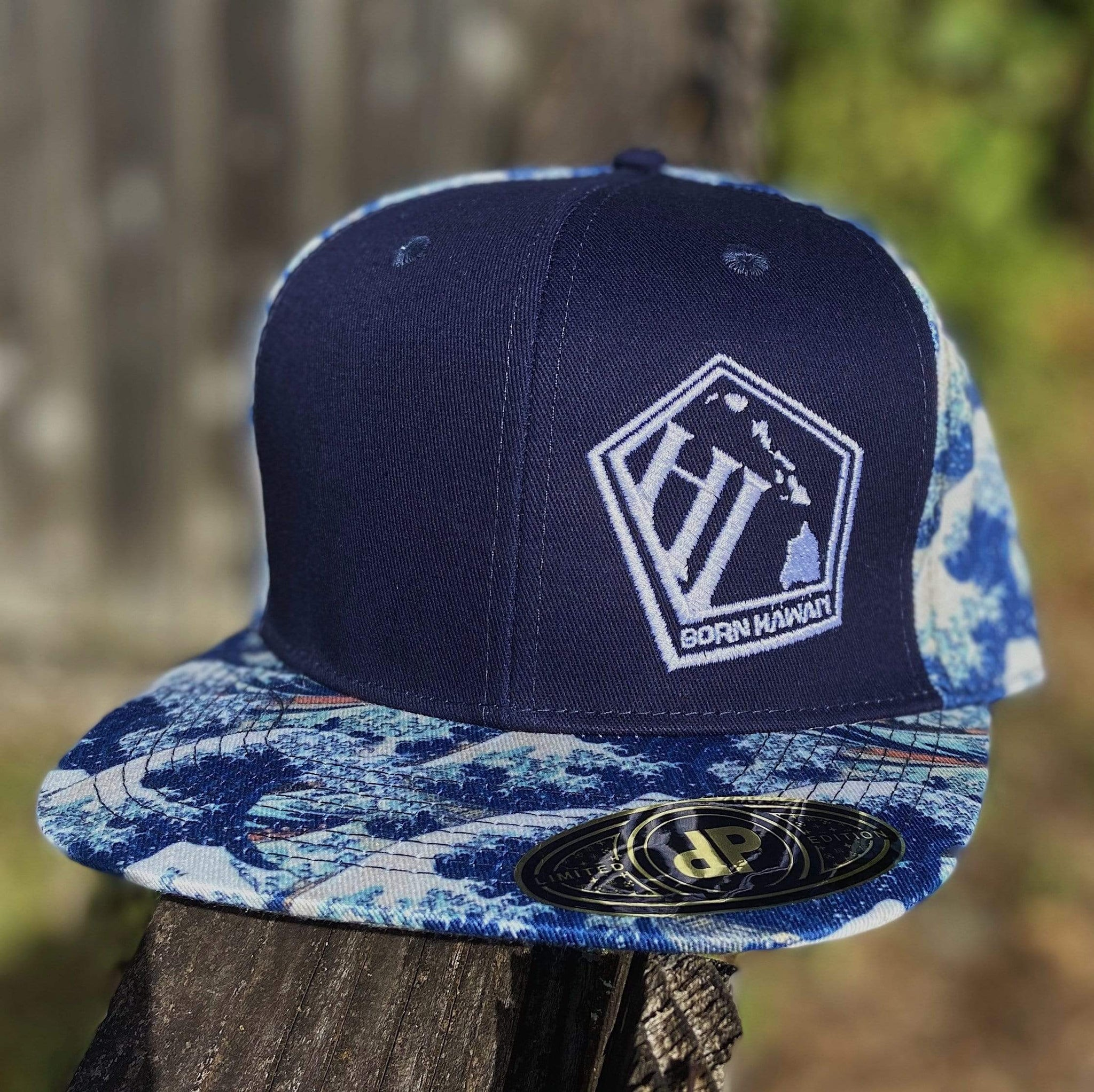 Born Hawaii Hat JAPANESE WAVE SNAKPBACK HAT