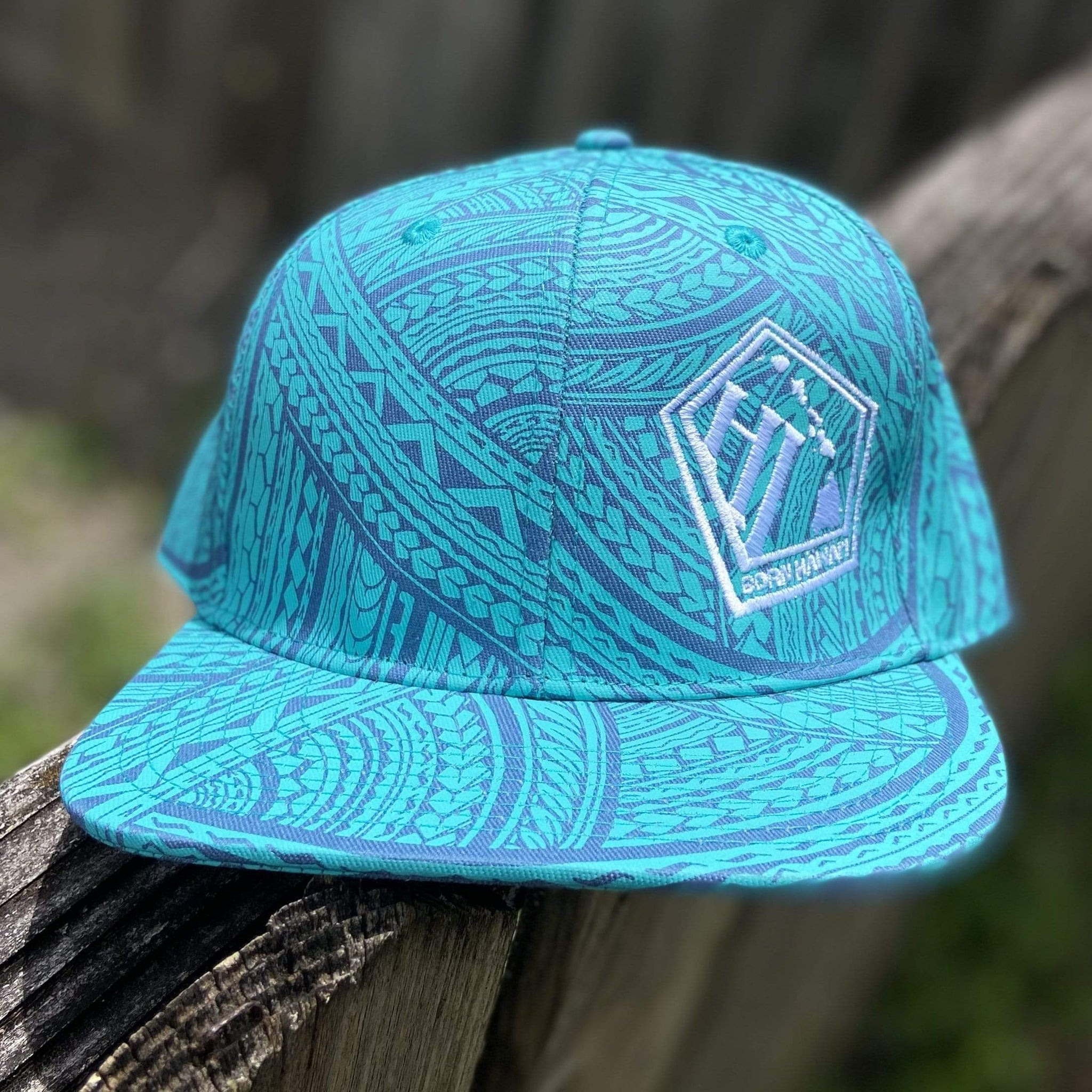 Born Hawaii Hat POLY TAT SNAPBACK HAT BLUE MINT