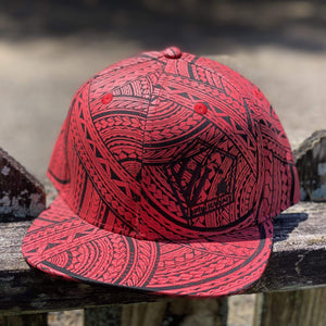 Born Hawaii Hat POLY TAT SNAPBACK HAT RED BLACK BLACK