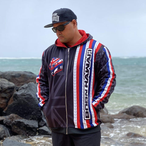 Born Hawaii Jacket TEAM HAWAII ZIP HOODIE BLACK