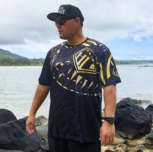 Born Hawaii Jersey Black GOLD HAKA Tattoo Jersey