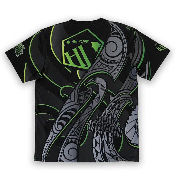 Born Hawaii Jersey Black Green MAKANI Tattoo Jersey