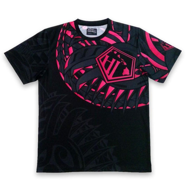 Born Hawaii Jersey Black PINK HAKA Tattoo Jersey