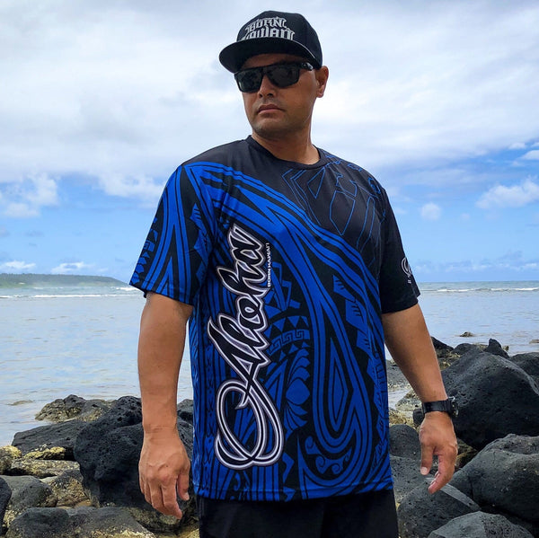 Born Hawaii Jersey Blue Horizon ALOHA Tattoo Jersey